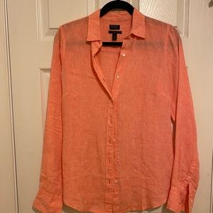 Irish linen button down - j crew